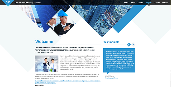architecture website design templates