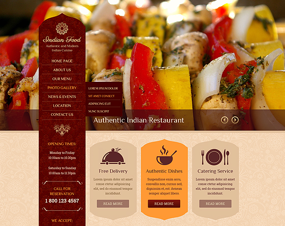 10 cafe restaurant templates gridgum indian restaurant bootstrap theme maxwellsz