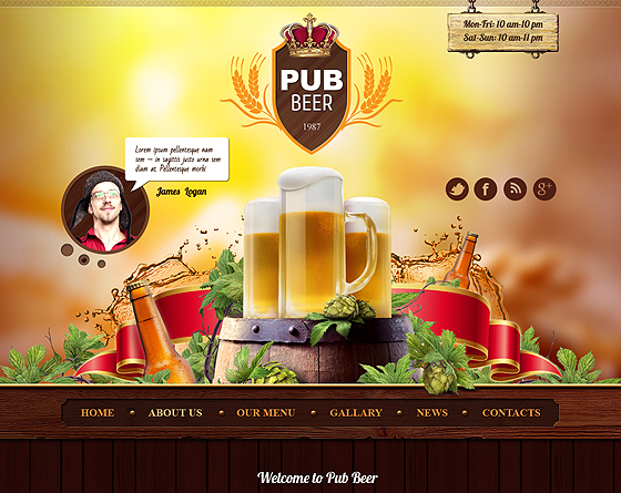 Beer Pub - Bootstrap Responsive Theme