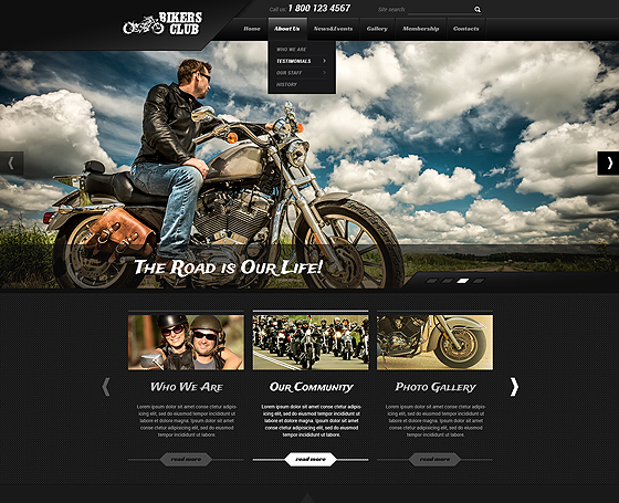 bikers bootstrap theme
