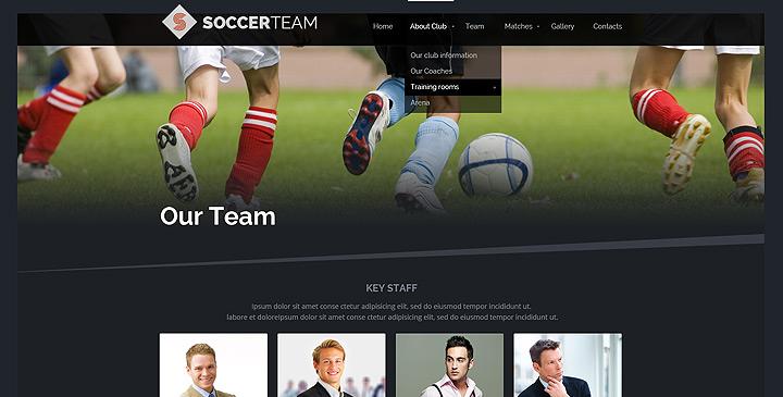 Soccer bootstrap theme, football website templates | Gridgum