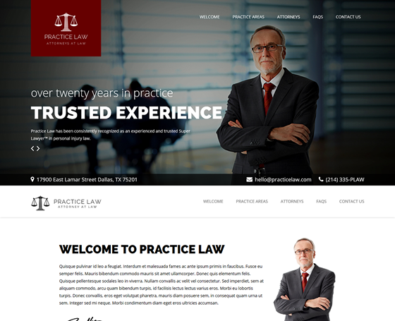 Practice Law - WordPress Attorney Theme