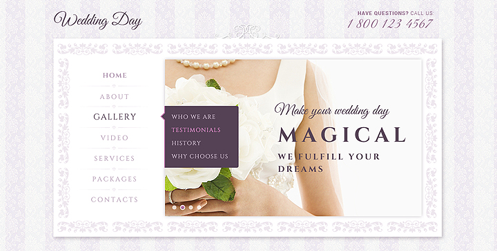 Wedding day - bootstrap responsive template