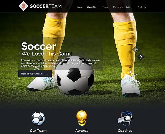 Football Website Templates Gridgum - Soccer website templates