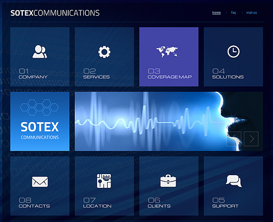 Sotex Communication bootstrap template