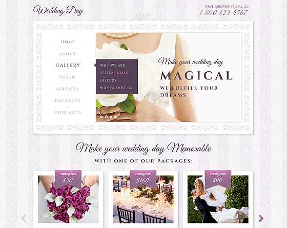 Wedding day - bootstrap responsive theme