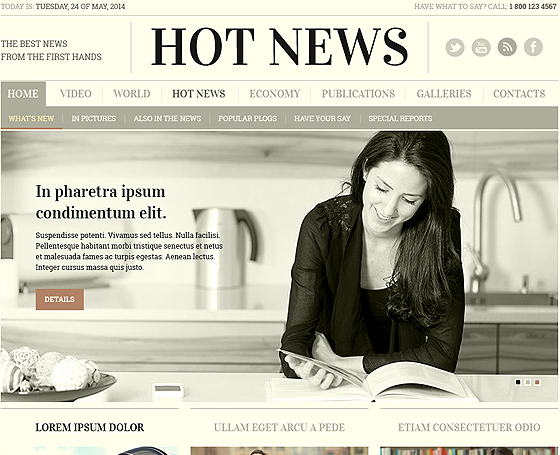 Hot News - Bootstrap Theme