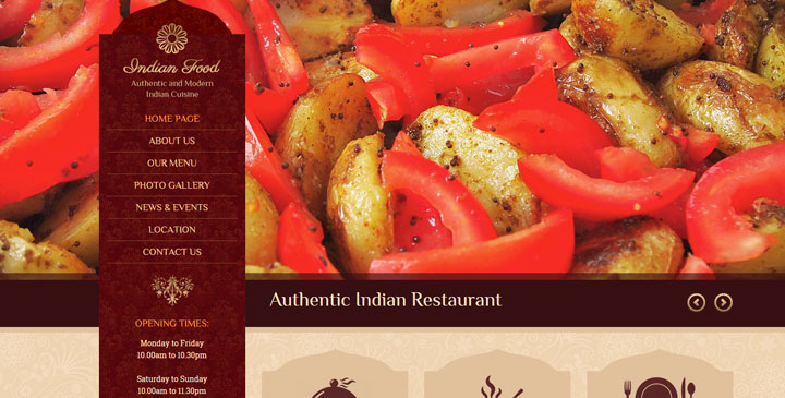 Indian restaurant bootstrap website template gridgum indian restaurant website template maxwellsz