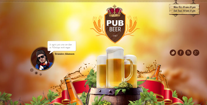 Beer Pub - Bootstrap Template
