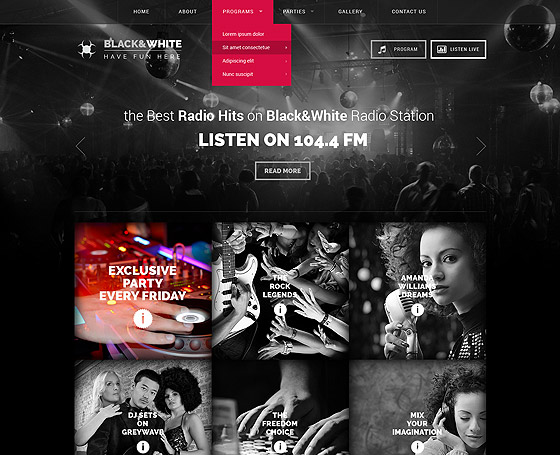 Wordpress radio station, Online Radio template | Gridgum