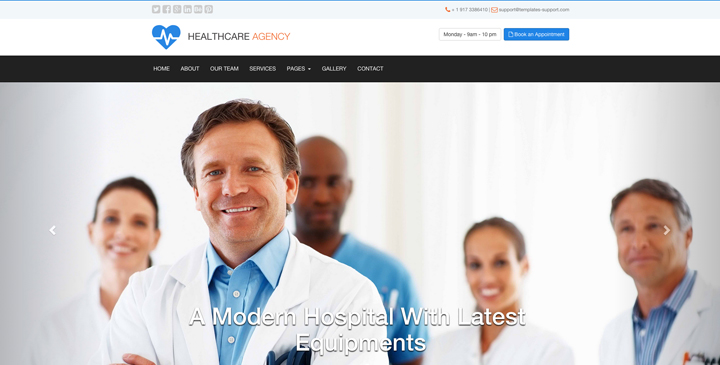 Medical - free bootstrap website template