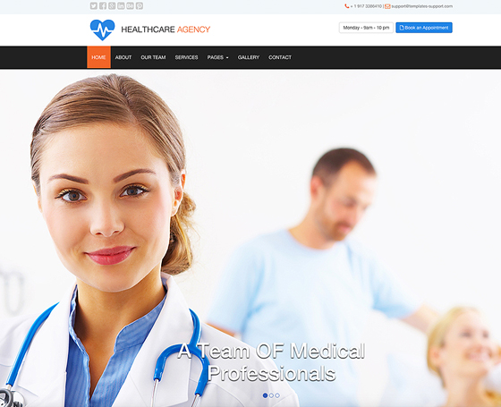 Medical - free bootstrap template