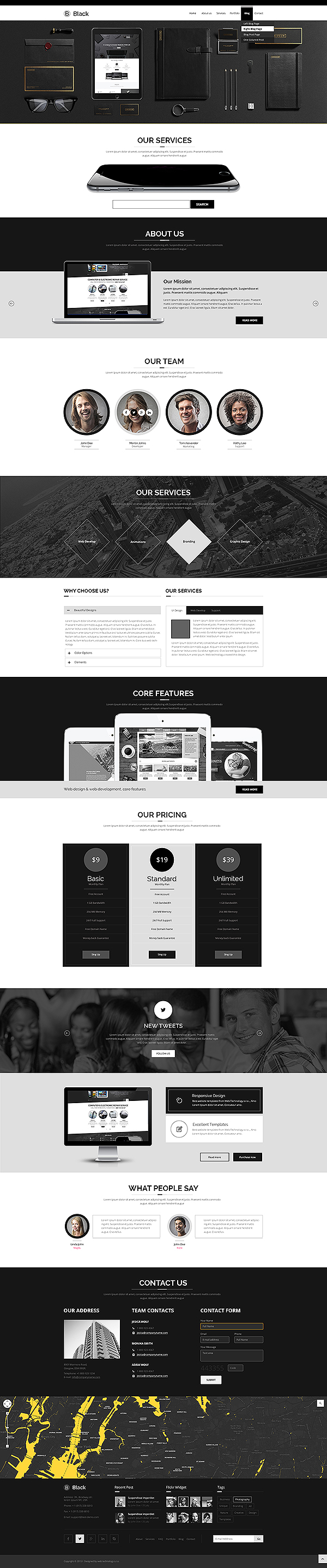 black version of bootstrap theme