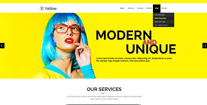 Color - Multipurpose HTML Bootstrap Website Template