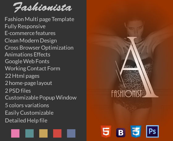 Fashionista - Fashion eCommerce Template