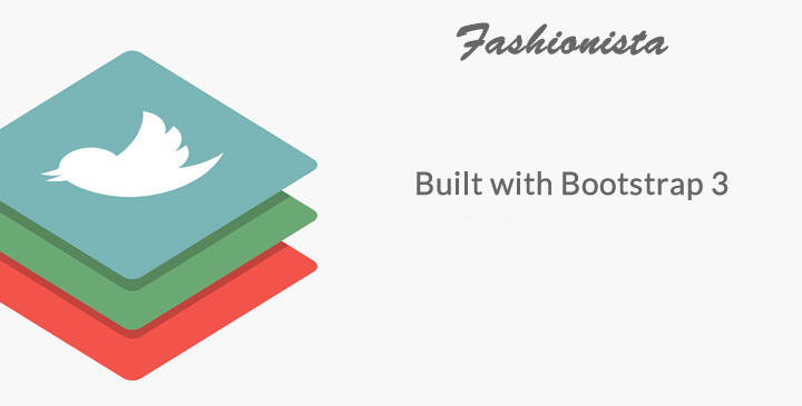 Fashionista - Fashion eCommerce Bootstrap Template