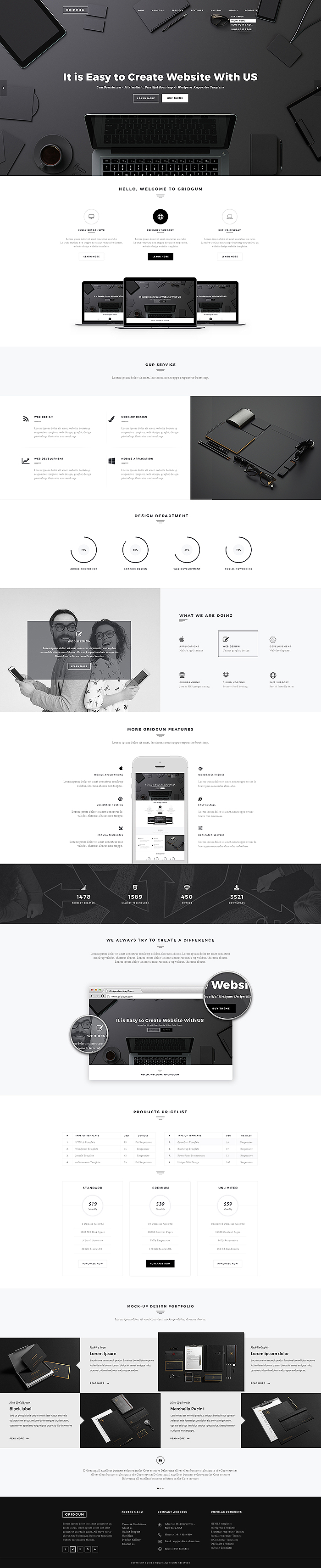 black label multipurpose bootstrap template
