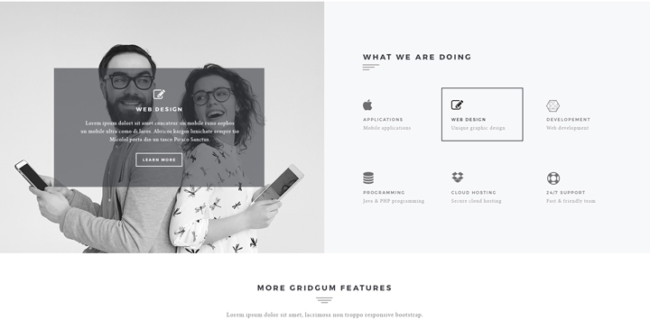 Black label bootstrap theme
