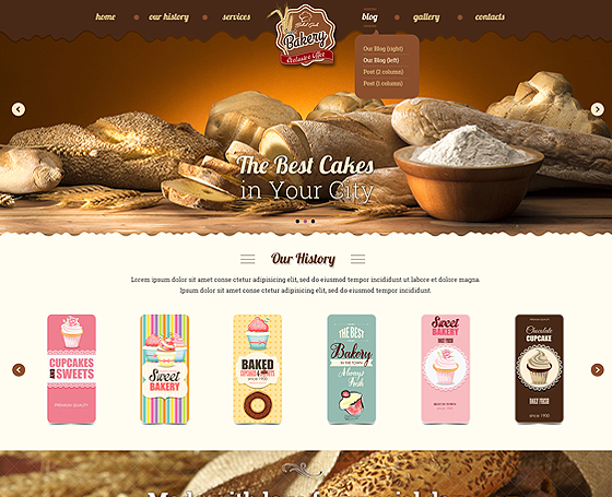 Bakery - bootstrap template