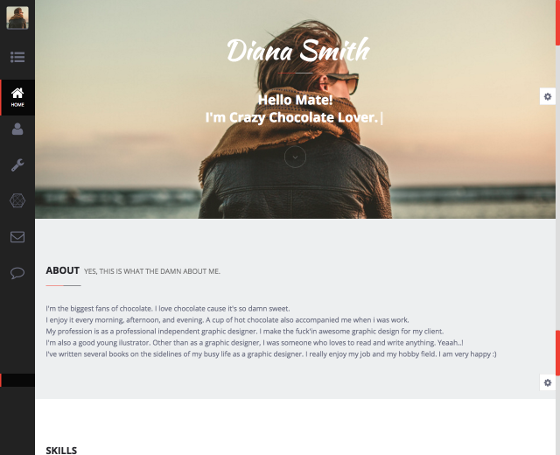 Diana - Personal HTML Theme