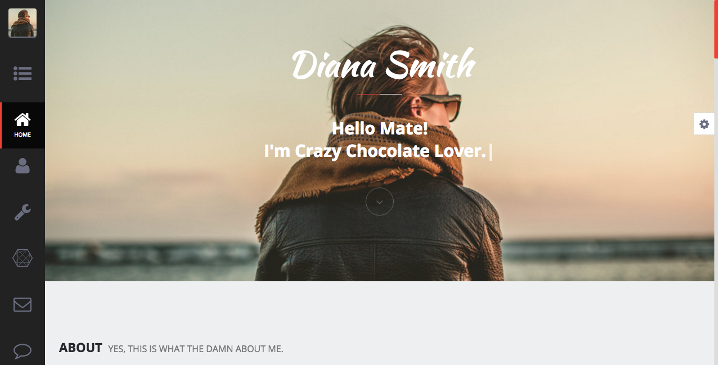 Diana - Personal HTML Template