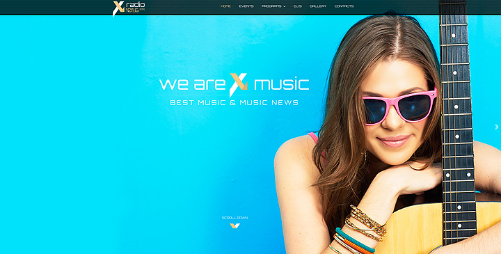 X Radio website template