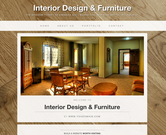 Interior design free bootstrap theme