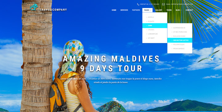 Travel Agency Bootstrap Theme