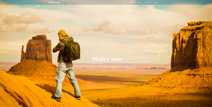 Photography - free bootstrap template