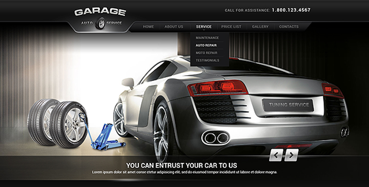 Car Tuning, car service WordPress theme | Gridgum