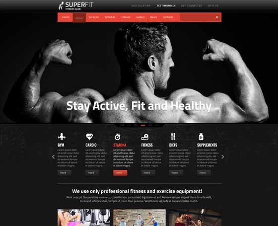 SUPERFIT Fitness Club - Joomla theme