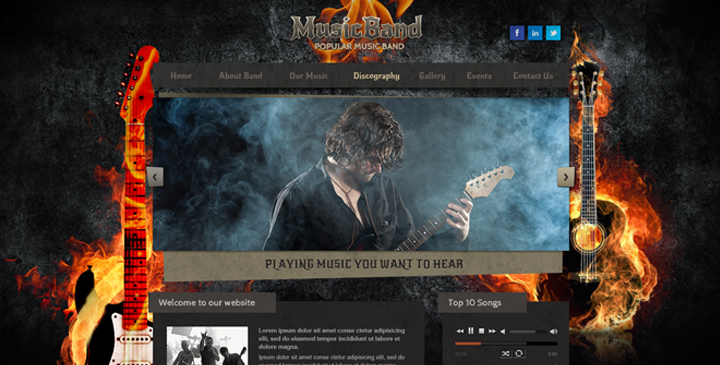 Hardrock free bootstrap template