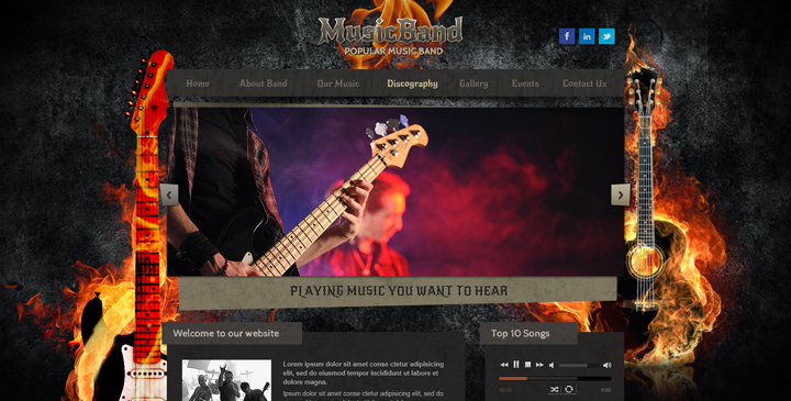 Hardrock free music band template