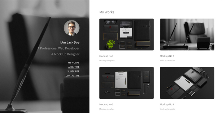 Personal Blog Free HTML5 theme