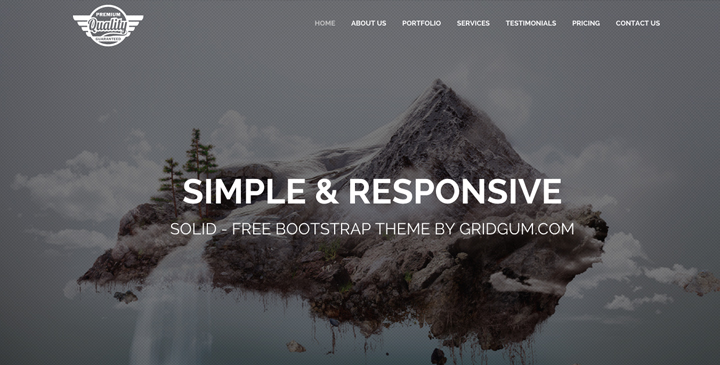 Solid - Free bootstrap template