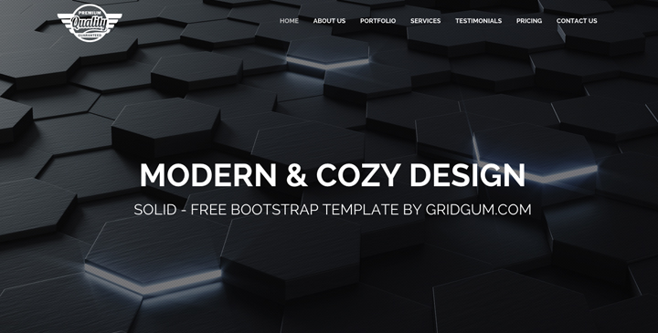 Solid - Free responsive bootstrap template