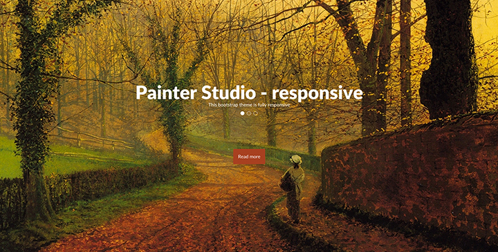 Painter studio Free boostrap template