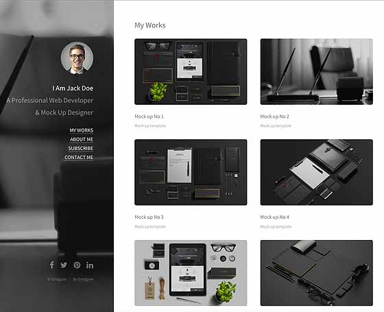 Personal Blog Free HTML5 template