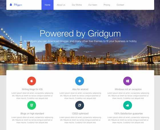 Blogger templates free by popular gridgum blogger free bootstrap template wajeb Choice Image