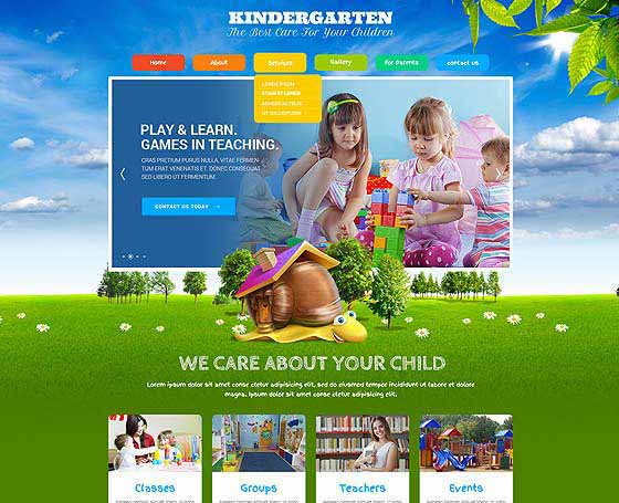 Kids Land Joomla theme