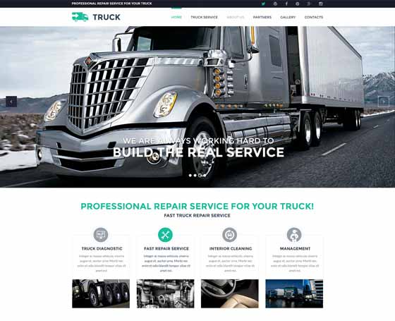 Truck service bootstrap template