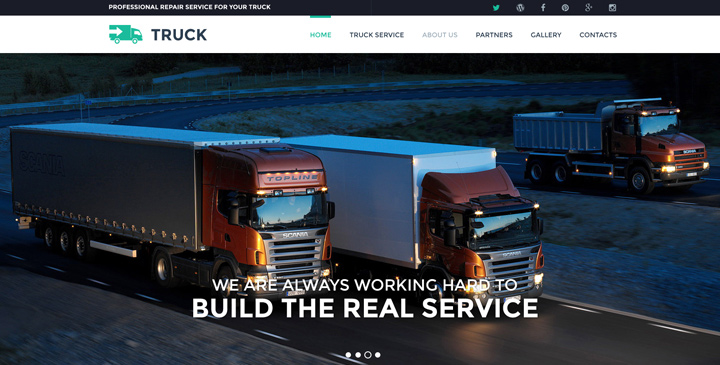 Truck website template