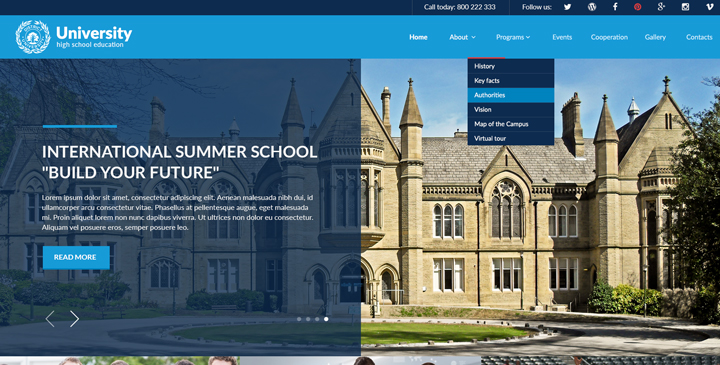 joomla education template
