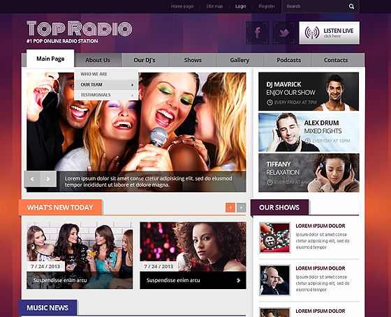 Top Radio - Joomla responsive theme