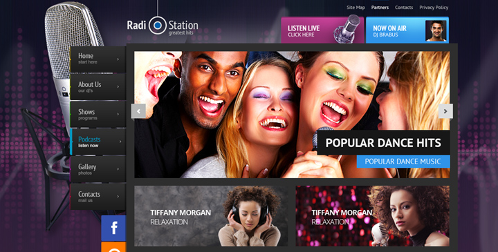 wordpress radio theme