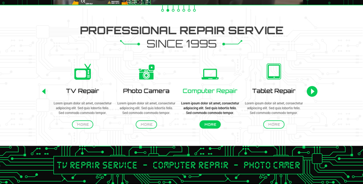 computer service wordpress theme