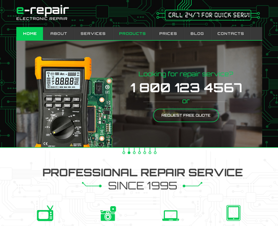 Electronic repair wordpress theme
