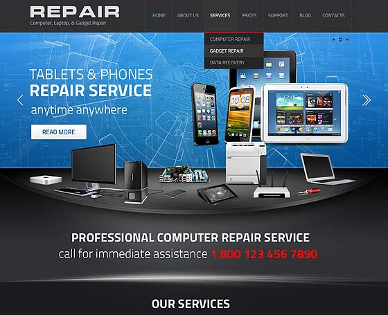 Gadget repair service wordpress theme