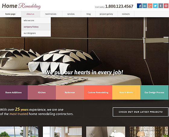 Home Renovation joomla template