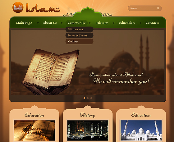 Mosque Wordpress template (theme)